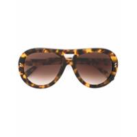 Stella Mccartney Eyewear Óculos De Sol Redondo - Marrom