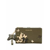 Michael Michael Kors Carteira Wristlets De Couro - Verde