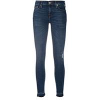 7 For All Mankind Calça Jeans Skinny Illusion Com Efeito Destroyed - Azul