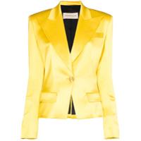 Alexandre Vauthier Blazer Com Abotoamento Simples - Amarelo
