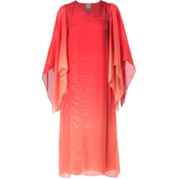 Ingie Paris Vestido Pelerine Degradê - Vermelho