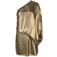 Halston Heritage Vestido De Festa Com Drapeado - Dourado