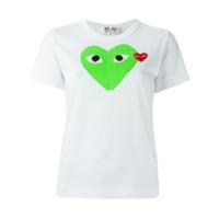 Comme Des Garçons Play Camiseta Com Estampa - Branco