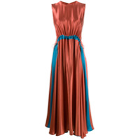 Roksanda Vestido Midi Keeva - Laranja