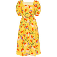 Borgo De Nor Vestido Midi Com Estampa Floral - Amarelo