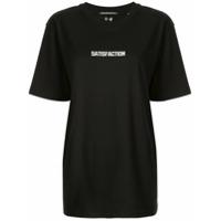 Boyarovskaya Camiseta Decote Arredondado Com Slogan - Preto