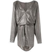 Tufi Duek Vestido Metalizado - Cinza