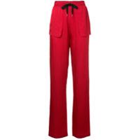 Roland Mouret Calça Cintura Alta - Vermelho