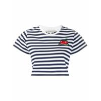 Fiorucci Camiseta Cropped Com Listras - Azul