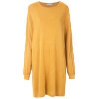 Egrey Vestido De Tricô Efeito Franzido - Amarelo