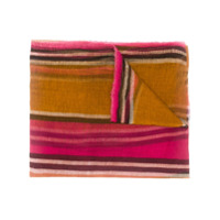 Uma Wang Echarpe Listrada Color Block - Laranja