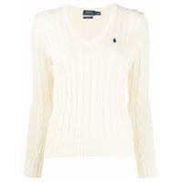 Polo Ralph Lauren Suéter De Tricô Com Logo - Neutro