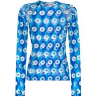 Gmbh Eye Print Rashguard Top - Azul
