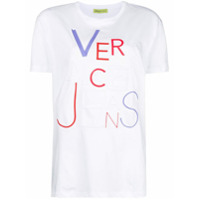 Versace Jeans Camiseta Mangas Curtas Com Logo - Branco