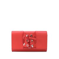 Perrin Paris Clutch Com Detalhe De Amarração - Vermelho