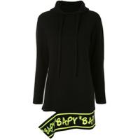 Bapy By *a Bathing Ape® Moletom Com Logo Vazado E Capuz - Preto