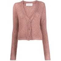 Chiara Bertani Chunky Knit Cardigan - Rosa