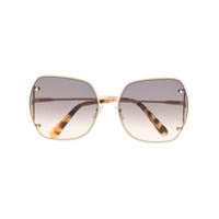 Salvatore Ferragamo Eyewear Óculos De Sol Oversized Quadrado - Dourado