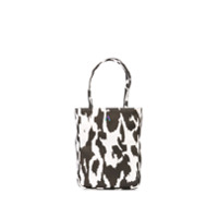 Ashley Williams Bolsa Tote Com Alça De Mão E Animal Print - Preto
