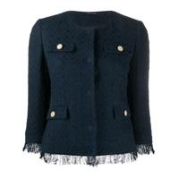 Tagliatore Jaqueta Cropped Meg De Tweed - Azul