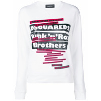 Dsquared2 Suéter 'punk N Roll Brothers' - Branco
