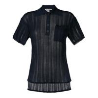Acne Studios Camisa Polo De Tricô Canelada - Azul