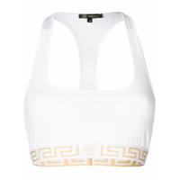 Versace Top Esportivo Com Logo - Branco