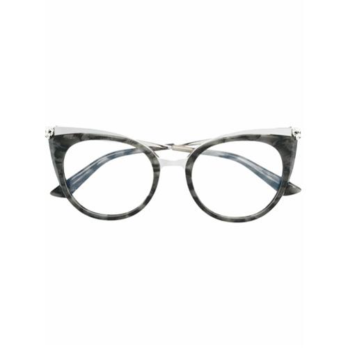 40ae91aa5e507 Imagem de Cartier Armação de óculos  Panthère de Cartier  - Cinza