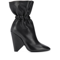 Saint Laurent Ankle Boot Com Elástico - Preto