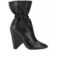 Saint Laurent Ankle Boot Com Elástico - Preto