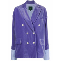 Jejia Fitted Double-Breasted Blazer - Roxo