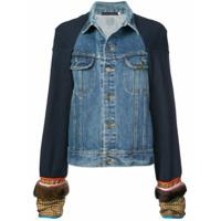 Harvey Faircloth Jaqueta Jeans Com Recortes - Azul