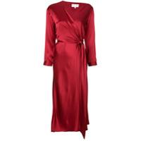 Michelle Mason Vestido Midi Assimétrico - Vermelho