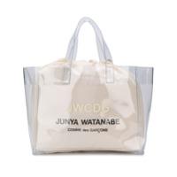 Junya Watanabe Bolsa Tote Com Estampa De Logo - Branco