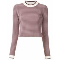 Framed Blusa Long Stripes Listrada - Vermelho