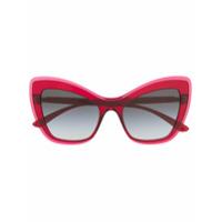 4805a6a86 Dolce & Gabbana Eyewear Óculos De Sol Gatinho Oversized - Rosa ...