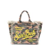 Mc2 Saint Barth Bolsa de praia Vanity com estampa camuflada - Verde