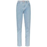 Eckhaus Latta Calça Jeans Reta - Azul