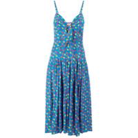 Lhd Vestido Com Estampa Floral - Azul