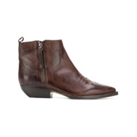The Seller Ankle Boot De Couro - Marrom