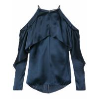 Cushnie Blusa Ombros À Mostra 'florence' De Seda - Azul