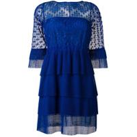 Just Cavalli Vestido Com Renda - Azul