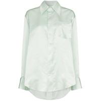 f08b25221d Matthew Adams Dolan Camisa De Seda Assimétrica - Green ...