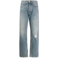 Rag & Bone Calça Jeans Reta Com Destroyed - Azul