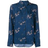 Kenzo Camisa Com Estampa Floral - Azul