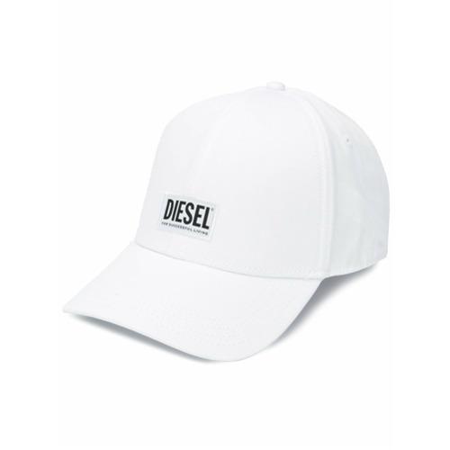 Diesel Boné com patch Diesel - Branco