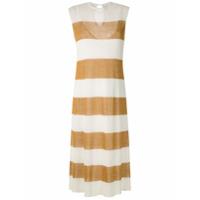 Osklen Vestido Midi Stripes De Tricô - Branco