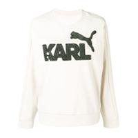 Karl Lagerfeld Blusa De Moletom 'puma X Karl' - Neutro