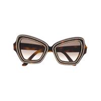 Celine Eyewear Óculos De Sol 'butterfly' - Preto