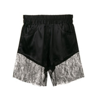 Almaz Lace Trim Shorts - Preto